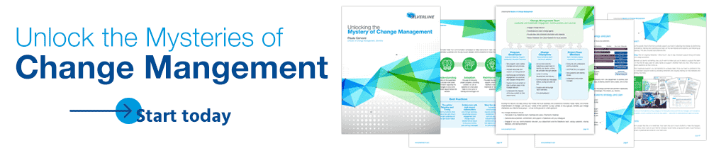 Banner image, click to learn more about the importance of change management and how you can unlock its mysteries.